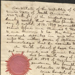 University Of Houston Digital Library Early Texas Documents Letter To The Consulate Of Texas From Charles H Forbes