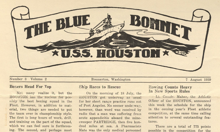 USS Houston Blue Bonnet Newsletters