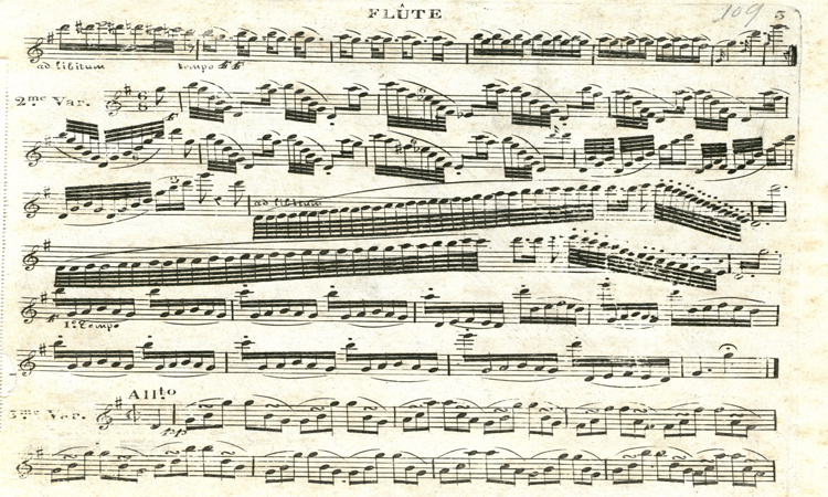 Sheet Music of Flute and Violin Duets, 1790s-1850s