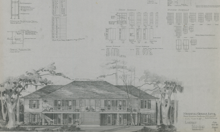 Lucian T. Hood Architectural Drawings