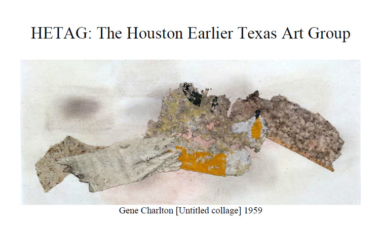 Houston Earlier Texas Art Group (HETAG) Newsletters